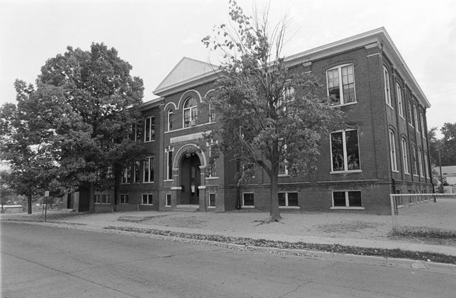 Audubon School as it appeared Oct. 15, 1976, a week after a boiler explosion rendered it unusable.  Construction of the $20,000 school at 1400 Clay St. began in 1906 but the  East End community celebrated its opening in mid-September 1907. It was razed in 2019 (Gleaner file photo)