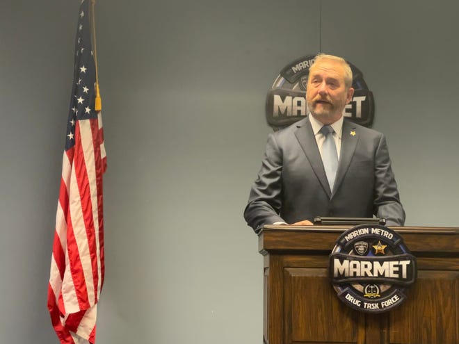 Ohio Attorney General Dave Yost came to Marion on Oct. 7 to unveil new devices that will be used by Marion law enforcement to quickly test substances for almost immediate results instead of waiting weeks for results from big labs.