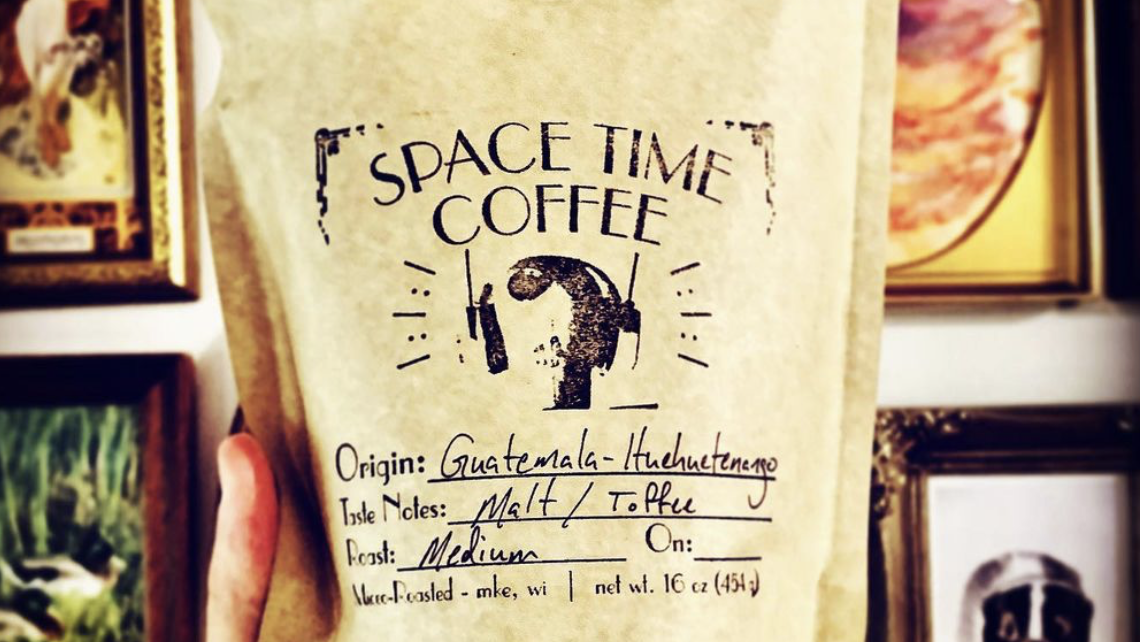 Space Time Coffee began roasting coffee to order and selling 1-pound bags online in September 2020.