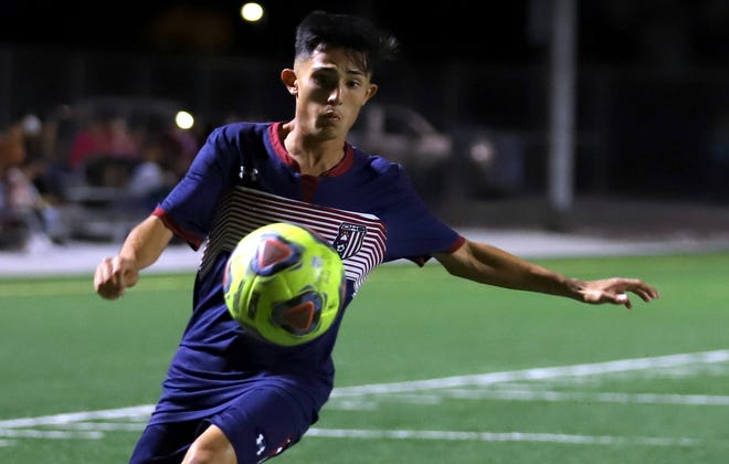 Senior stryker Cipriano Gonzalez came up big in Tuesday's District 3-5A soccer match against Gadsden. Gonzalez score at the 21 minute of the second half to break a scoreless tie and push Deming High to victory.