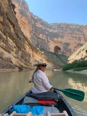 Ashton Graham floats the Rio Grande through Santa Elena Canyon in Big Bend National Park.