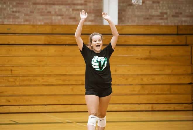 Avery Morkert at Sunnyslope High School Volleyball Practice in Phoenix, AZ, October 5, 2021