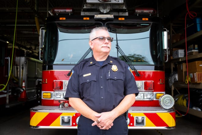 Port Huron Township Fire Chief Dan Mainguy poses for a portrait Thursday, Oct. 7, 2021, at the fire hall. After 32 years in public safety, Mainguy is retiring.