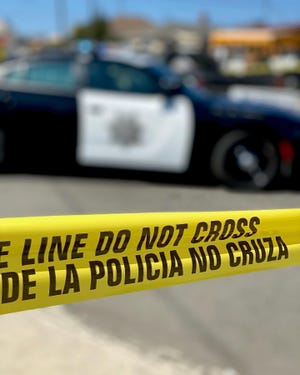 Salinas police investigate a homicide reported on Tuesday, October 5, 2021.