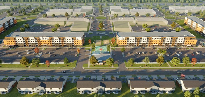 The PowderHaus apartment and townhome complex will be located near Highway 11 and 41st Street. Construction is expected to be completed within the next three years.