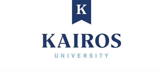 New logo for launch of Kairos University, a global theological network originally launching from Sioux Falls Seminary.
