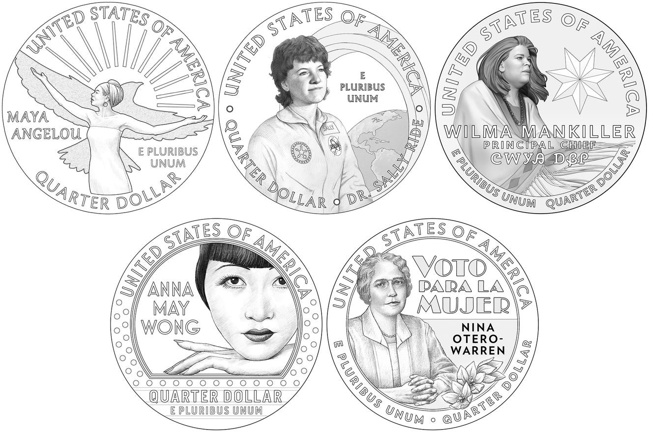 Quarters honoring Ameerican women