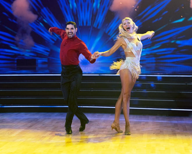 """Alan Bersten and Amanda Kloots compete on """"Britney Night"""" Oct. 4 on ABC's """"Dancing with the Stars."""""""