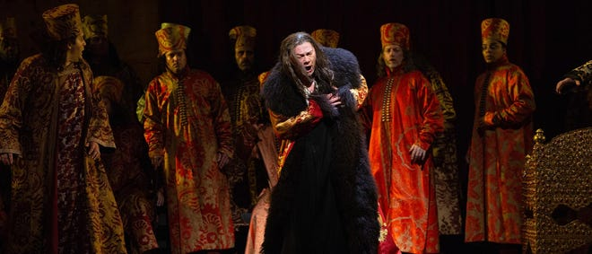 """The Metropolitan Opera's first new production since the start of the pandemic, Mussorgsky's """"Boris Godunov,"""" will air at the Goddard Center on Saturday, October 16th."""