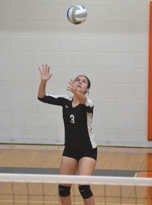 Junior Kenzie Burt and the Cheboygan varsity volleyball team captured a win over Onaway, but lost to Sault Ste. Marie in a tri match at Onaway on Thursday.