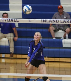 Inland Lakes senior volleyball player Emily Van Daele has been voted the Cheboygan Daily Tribune's Athlete of the Week for Week 6.