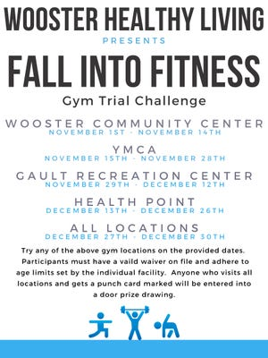 Wooster Fall into Fitness poster.