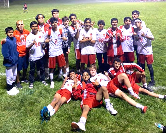 The Coldwater JV Cardinal soccer team finished their 2021 season undefeated with a win over Marshall Thursday