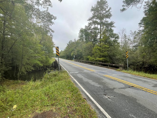 This bridge located on N.C. 50 over Sandy Run Swamp in Onslow County is set to be replaced with a more modern structure, leaving it closed for construction through April 2022.