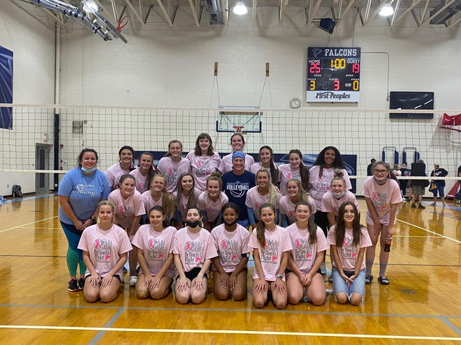 The Frankfort volleyball team, which has gone pink in October in honor of Breast Cancer Awareness, evened the score with Keyser this week.