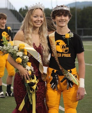Kaelyn Kesner and E.J. Guy were crowned Homecoming Queen and King Friday prior to Keyser's game against Point Pleasant.