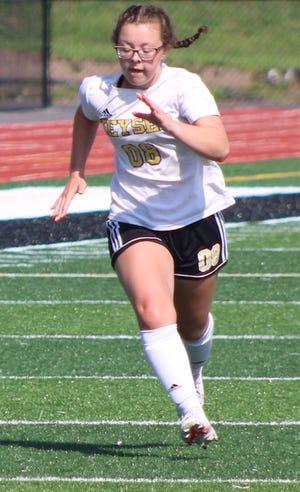 Rylee Staggs scored four goals to lead Keyser over Berkeley Springs 5-2.