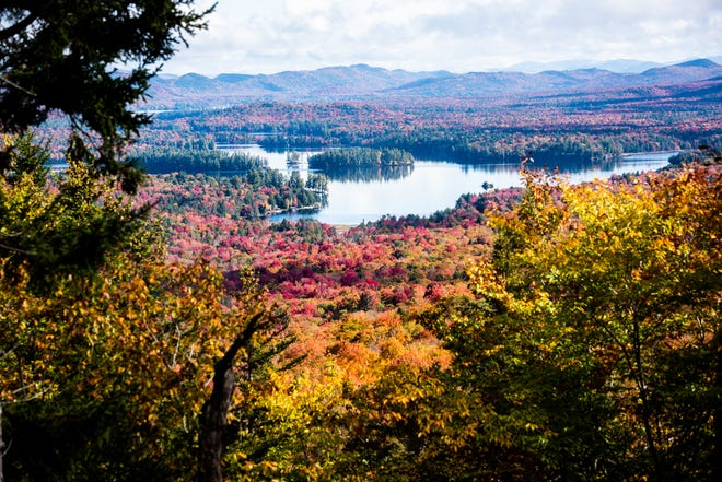 A view of the Fulton Chain of Lakes from the top of McCauley Mountain on Wednesday, Oct. 6 in Old Forge.