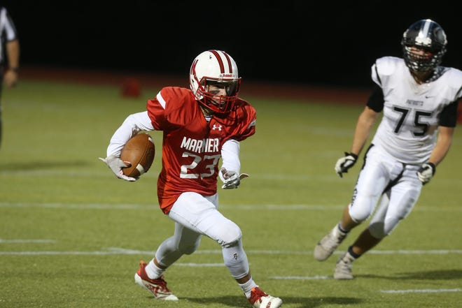 After last week's win over Pilgrim, where does Zach Bianco (left) and the Narragansett football team fall in Eric Rueb's Top 20 Power Poll this week?