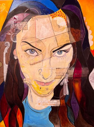 """Francesca"" mixed media on canvas 2021 by Kyle Valentini."