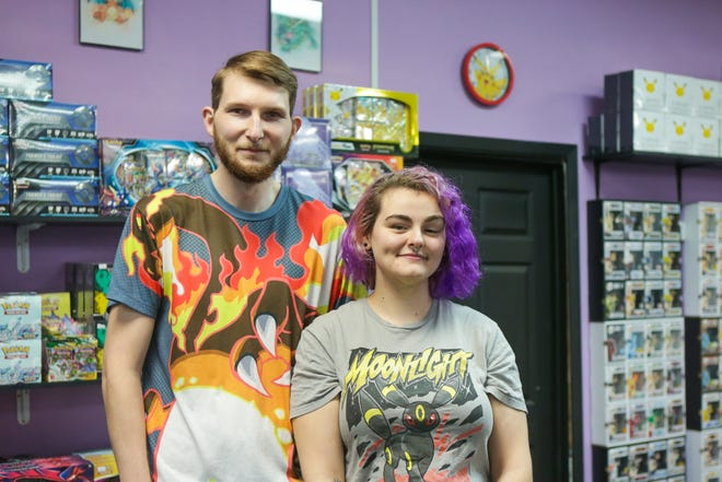 Jacob and Katie Cotten are the owners of Cotten's Collectibles. The store is located at 6410 Weber Road.