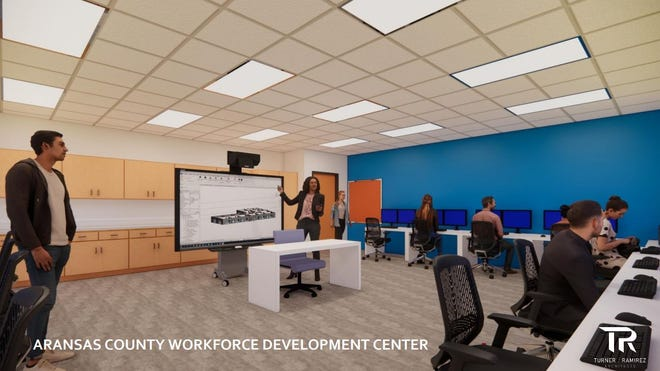Aransas County Economic Development Corp. and Del Mar College have partnered to revitalize the former Little Bay Primary school, 2000 State Highway 35 North in Rockport, as a workforce development and entrepreneurship center. The facility is expected to open in Spring 2022. The 16,000-square-foot building hassat vacant since Hurricane Harvey struck in August 2017.