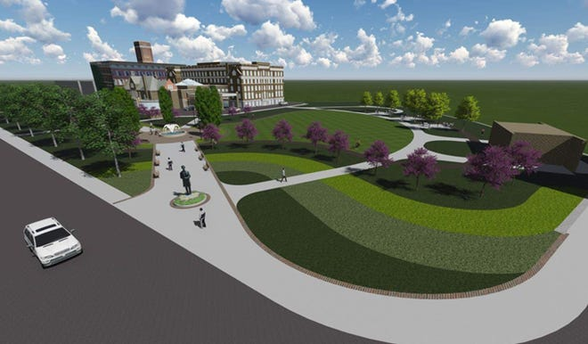 A rendering of the completed Lytle Park renovation.