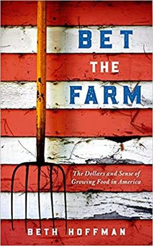 "Beth Hoffman's book ""Betting on the farm."""