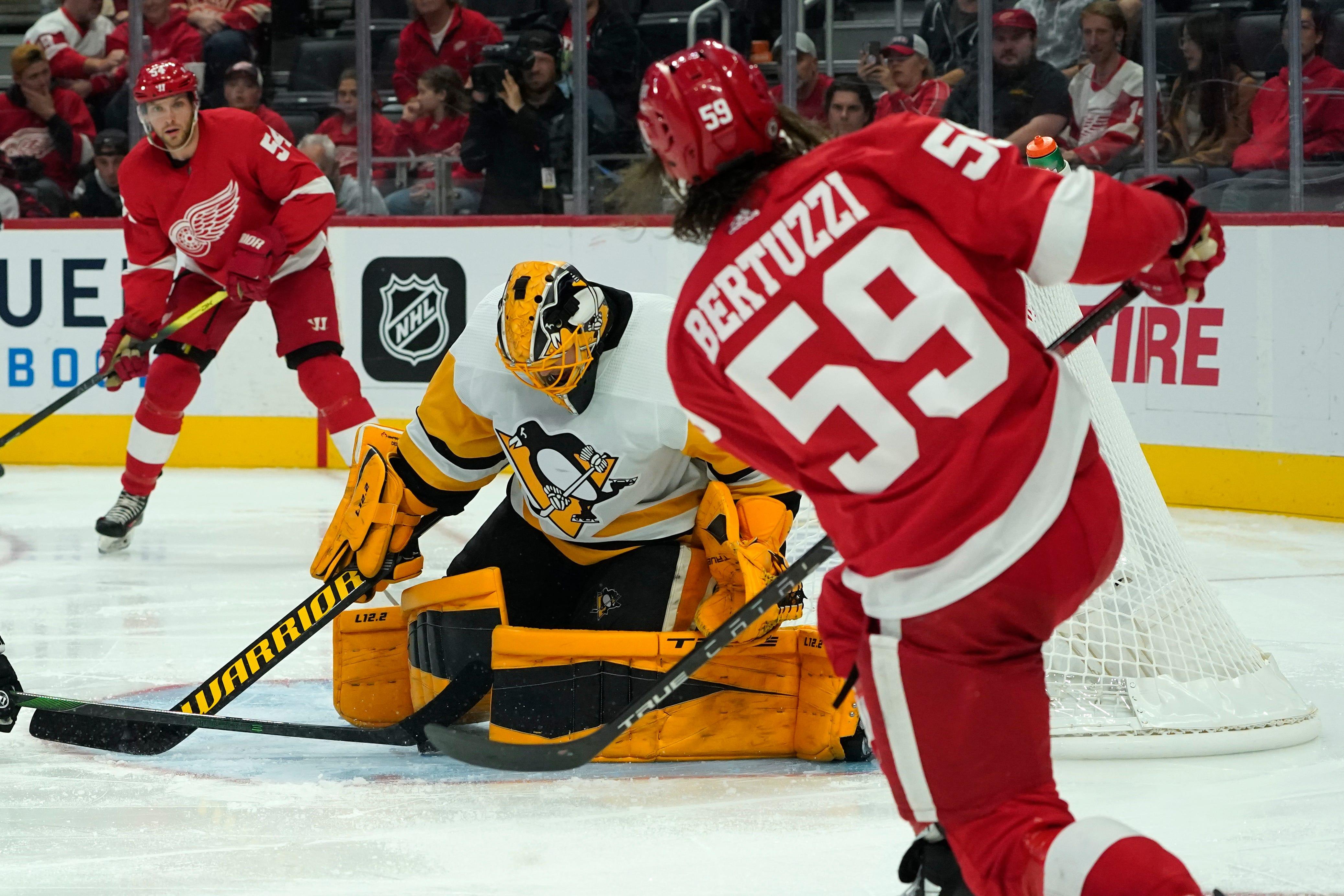 Tyler Bertuzzi scores in return, Detroit Red Wings top Penguins 4-2 in exhibition