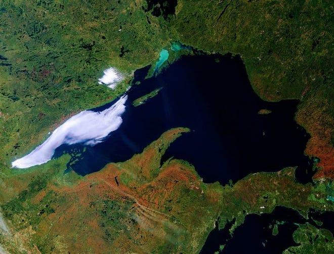 Satellite image of Lake Superior