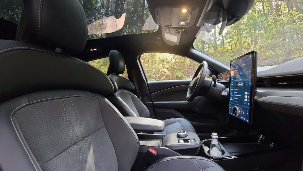 The interior of the 2022 Ford Mustang Mach-E GT Performance Edition changes little from the standard Mach-E.