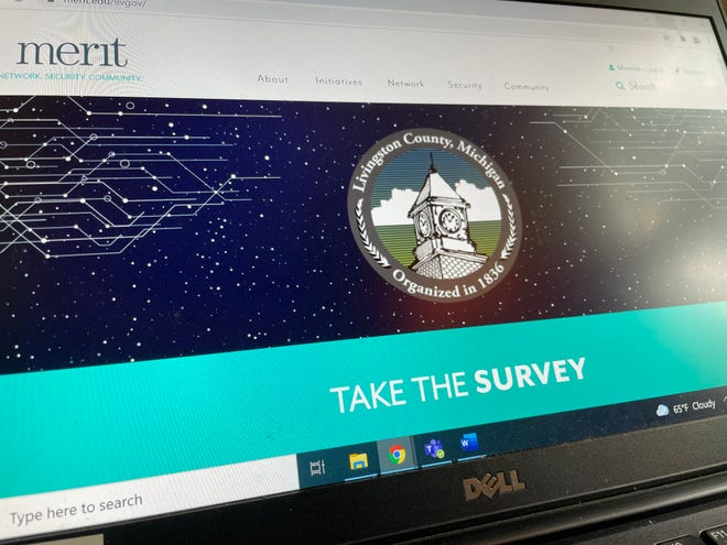 Livingston County's survey on internet in the county went live, as shown Friday, Oct. 8, 2021.
