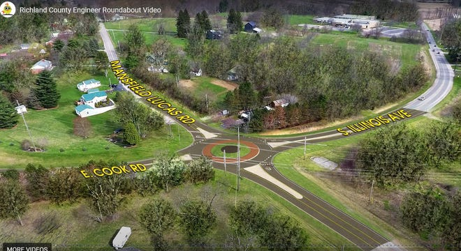 Richland County's second roundabout will be constructed at the intersections of East Cook Road, Illinois Avenue and Mansfield Lucas Road in 2022.
