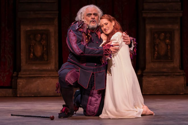 "Todd Thomas and Jessica Jones perform in Florentine Opera's production of Verdi's ""Rigoletto."""