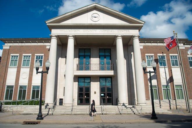Williamson County Judicial Center in Franklin, Tenn., Thursday, Oct. 7, 2021.