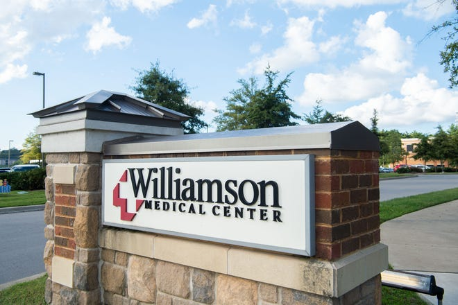 Williamson Medical Center is located at Carothers Pkwy, in Franklin, Tenn., Thursday, Oct. 7, 2021.