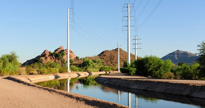 A Salt River Project canal in Phoenix. (Photo by Salt River Project)