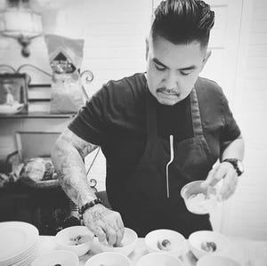 Justin Pioche is an Ashihii Diné who is born for the Bit'ahnii people. After graduating from the Arizona Culinary Institute and working in Phoenix fine dining, he went on to start Pioche Food Group with his sister Tia.