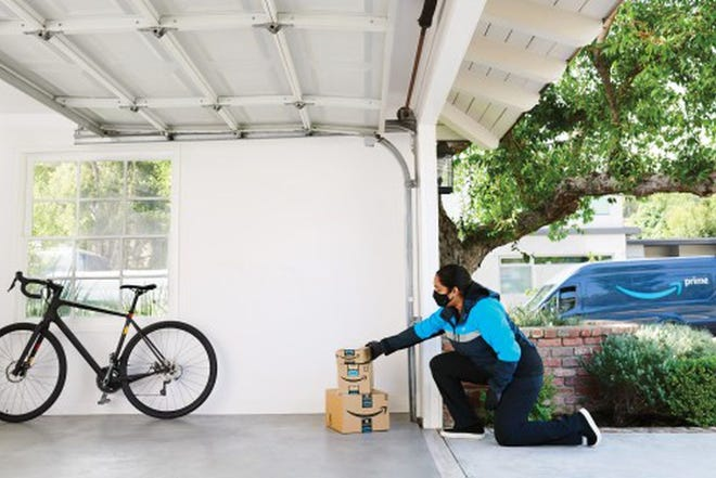 If you're comfortable with it, you can allow a vetted Amazon courier to open your garage door to drop off packages inside, and then close it again before you leave. A compatible chamberlain myQ garage system is required.