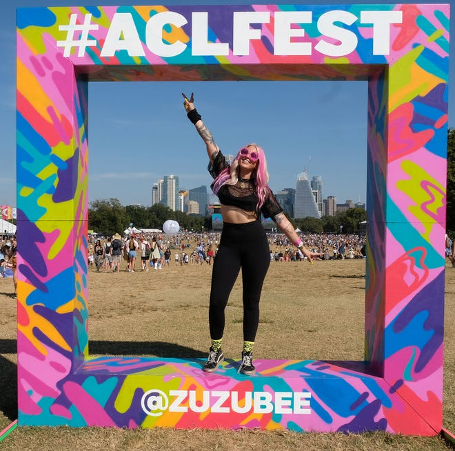 Did you take a photo in front of the skyline at Austin City Limits Music Festival, standing in the middle of a giant picture frame? Thank Zuzu for the prop.