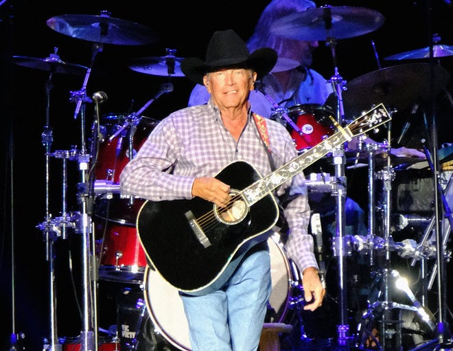 County legend George Strait plays on the Lady Bird stage during weekend 2 of the Austin City Limits Music Festival, October 8, 2021.