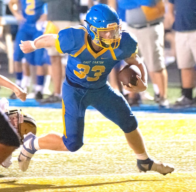 East Canton Jake McCullough rushed for 174 yards in a win against Tusky Central.