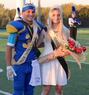 Reigning over the 2021 Fall Homecoming Court are Queen Kalliah Stillianos and King Nathan Cilona.