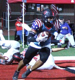 Plainview's Morgan Pearson tallied a pair of interceptions Friday that helped set the tone in a 42-7 win over Madill.