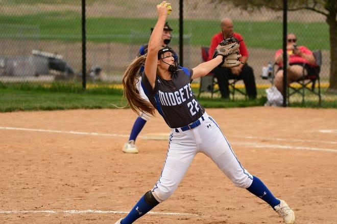 Putnam County's Claire Tipton pitches Saturday during a 3-2 win over La Plata.