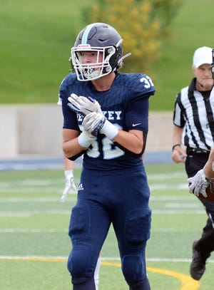 Petoskey senior Parker Shuman and the rest of his Northmen teammates played in their Big North Conference finale Friday at Cadillac and fell to the Vikings, 35-0.