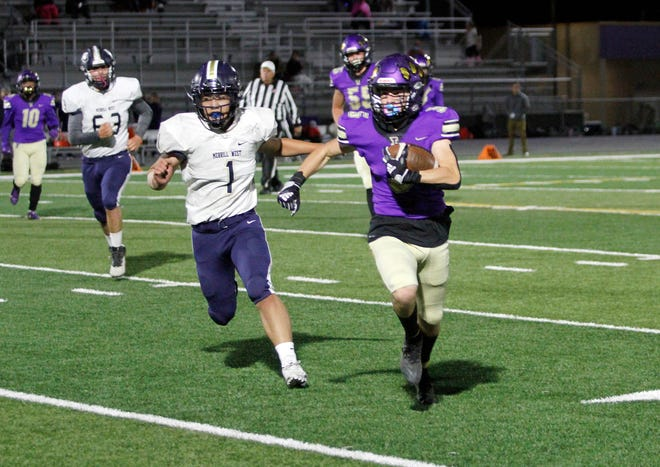 Tokay's Zack Filippini (5) gains ground during Tokay's 44-7 win over West on Friday at Hubbard Field.