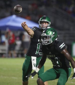 Ryan Browne of Venice High leads the area in passing yards with 1,195.