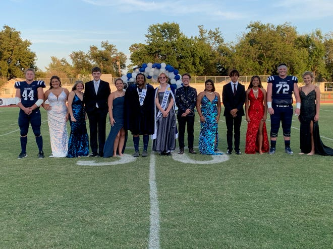The Shawnee High School fall homecoming candidates included the following: Bryce Holter, Lesley Wiewel, Blair Brock, Shalease Buckner, Zander Wood, Josh Coons and Madison Crowell, Stormee Reed, Jaylon Orange, Samuel Anderson, Braden Kirkland, Kaitlyn Atwood, Katigan Barksdale, and Madison Steele.