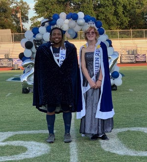 Lesley Wiewel and Jaylon Orange were crowned homecoming queen and king Friday night before the Homecoming game.